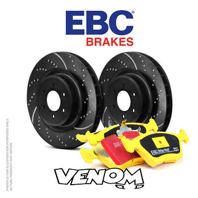 EBC Rear Brake Kit Discs & Pads for BMW 123 1 Series 2.0 TD (E81) 2007-2010