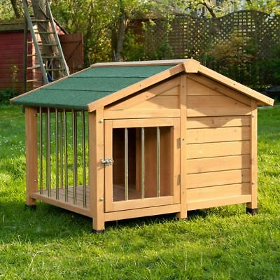Wooden Dog Cat Pet Kennel Medium Large XL Warm House Weather Proof Shelter