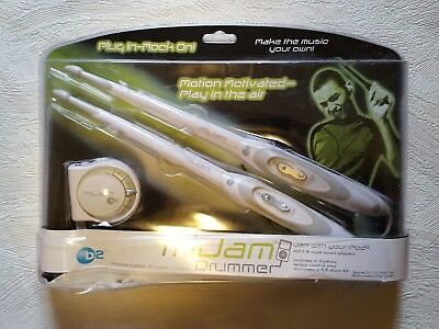 B2 MiJam Drummer Motion Activated iPod Electronic Drumsticks Brand New Sealed