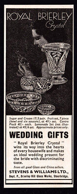 1936 Royal Brierley Crystal vintage print ad small
