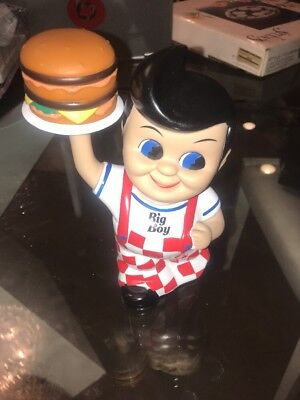 "8"" Collectible Frisch's Big Boy Burger Boy Bank Vinyl Figure Toy"