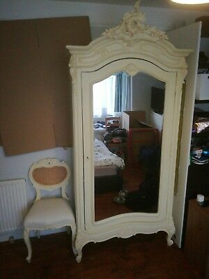 original old wardrobe. dressing table and chair