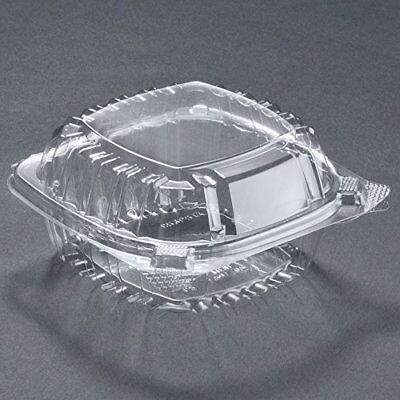 Food Container Small Clear Plastic Hinged for Sandwich Salad Cake 50 Pieces Best