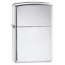 NEW! Zippo High Polish Chrome Pocket Lighter 250