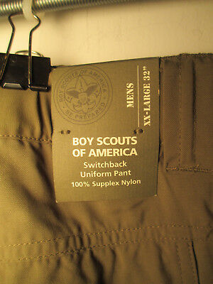 NWT Official BSA Boy Scout Uniform 2xl Switchback Green Cargo Pants