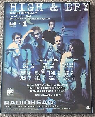 "Radiohead - Framed 8 1/2"" x 11"" Music Trade Ad Promo Poster"