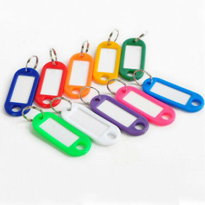 50 Pieces Wholesale Plastic Key Tags Assorted Key Rings ID Tags Name Card Label