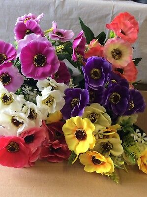 Job lot artificial flowers and floristry supplies 6000 picclick uk artificial flowers 12 x bunches poppy mixed bush wholesale job lot mightylinksfo