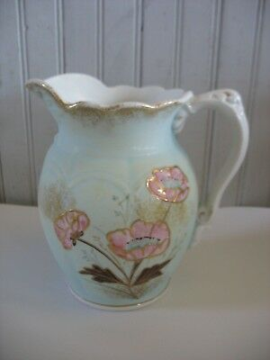 """Antique 7"""" Jug Pitcher John Maddock & Sons England decorated by WC Hendrickson"""