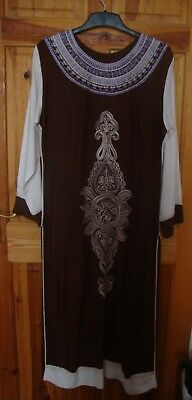 Pakistani/Indian Designer Stitched Linen  Shalwar Kameez UK SIZE LARGE Free P&P