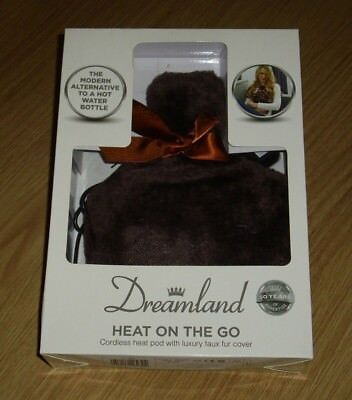 Dreamland Cordless Heat Pod With Luxury Faux Fur Cover