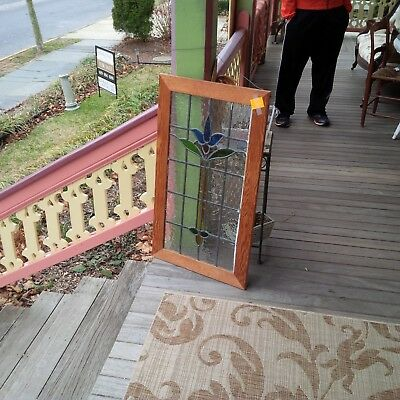Lovely Older Leaded Stained Glass Window, wonderful bright color, wavy glass