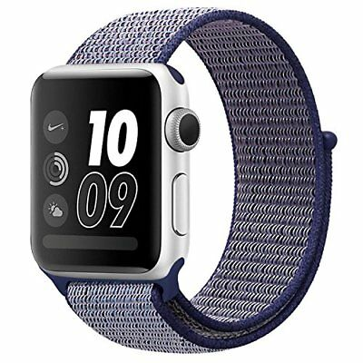 Apple Watch 38mm Band Nylon Soft Breathable Replacement Band Sport Strap Blue