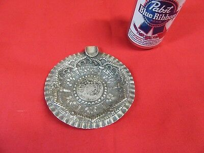 Antique Custom Silver Brazil Silver Coin,Cigar Ashtray,1816,1860~NICE #S3.10.18