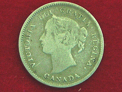 1893 Canadian Silver 5 Cent Nickel Coin