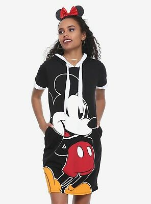 Women S Mickey Mouse Dress Hoodie Skirt Skater Cosplay Disney New
