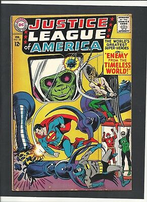 Justice League Of America #33 FEB 1965  Sekowsky Cover  Fox Story  DC Comics