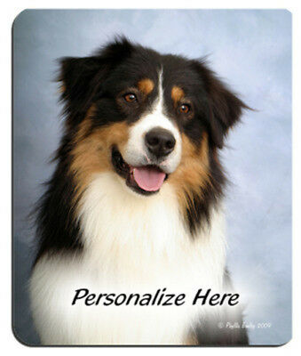 Australian  Shepherd  tri-color Personalized  Mouse Pad