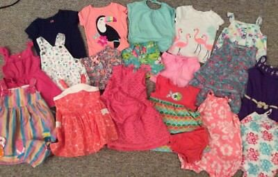 Baby Girl Outfits 18 Months 24 Pieces, Carter's, Osh Kosh, Spring, Summer, Cute!