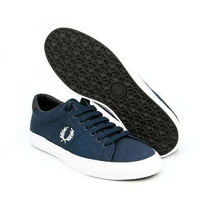 7cbb08dbf Men Fred Perry Shoes Navy Underspin Nylon Trainers Casual Sneakers  B3070-F20 NEW