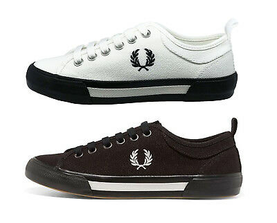 MEN FRED PERRY Shoes Horton Canvas Trainers Casual Sneakers