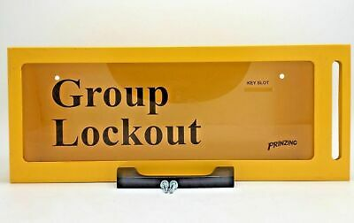 Brady Prinzing LG252M Group Lockout Box Maximum 10 Locks Yellow