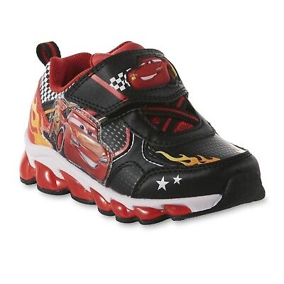 Disney Cars Lightning Mcqueen Sneakers Shoes Light Up Size 6 7 8 9 10 11 12