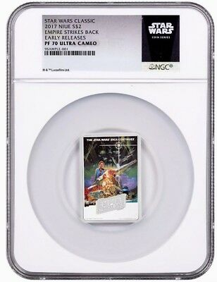 2017 NIUE Star Wars Posters Empire Strikes Back 1oz Silver $2 NGC PF70 UC ER