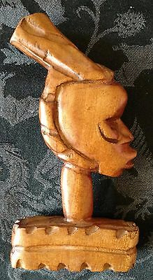 African Tribal Hand Carved Wood Wooden Head Bust Home Decor Ethnic Culture
