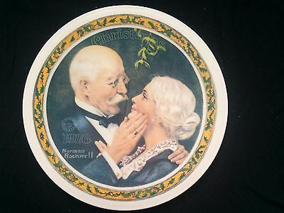 Norman Rocwell 1976 Collector Plate Golden Christmas