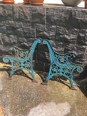 Vintage Cast Iron Seat Ends