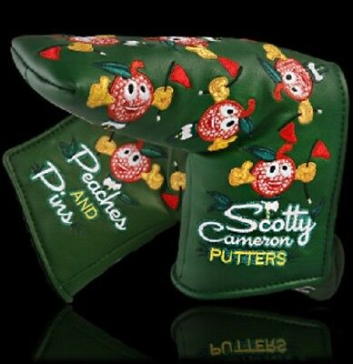 Brand New 2015 Scotty Cameron Peaches & Pins Masters putter head cover
