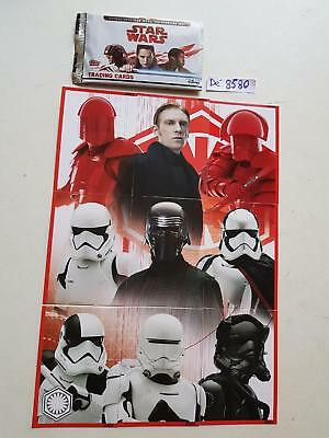 "(16) lot des 09 Cartes STAR WARS TOPPS trading formant un ""puzzle""  Dé 8580"