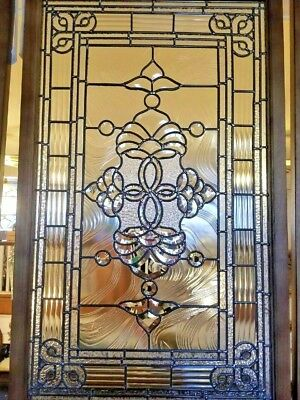 Stained glass Leaded Window Clear Victorian bevelled quality Wooden Frame