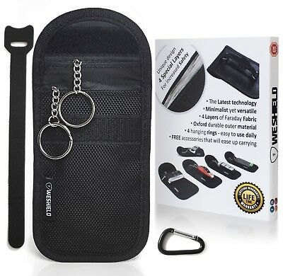 WESHIELD Lifetime AntiTheft Keyless Vehicle Anti Radiation Key Fob Faraday Bag