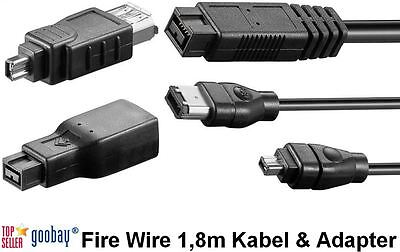 Firewire 1,8m cable & Adapter Various Editions 4/6/9 Pin goobay