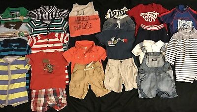 Baby Boy 12 12-18 Month Summer Romper Outfits Clothes Lot