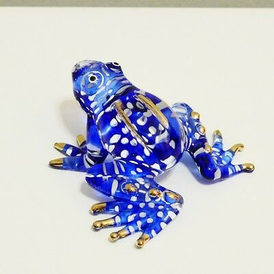 Frog Toad Animal Figurine Hand Paint Blown Glass Art Decorate Collectible Gift 4
