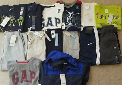 Nwt Trendy Lot Boys Clothes Sz 4 Nike Gap Gymboree Brand New $ 200+ Must See