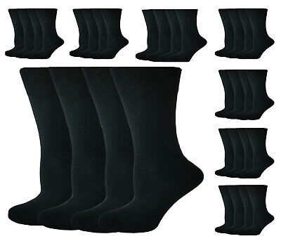 12 PAIRS Mens SOCKS Plain Black Cotton office casual every day suite socks 6-11