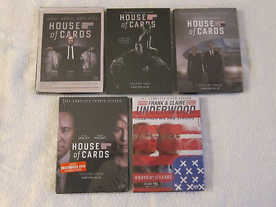 HOUSE OF CARDS SEASON 1, 2, 3, 4, 5 COMPLETE SERIES DVD (Brand New)