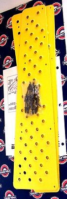 """New Oem Polaris Yellow Tunnel Grips Gen 2 Evolved Wedge Snowmobile 121""""  2872236"""