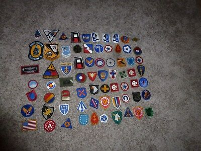 70 Military Patches WWII Korea Vietnam US Navy Blue Angels USAF US Army SR-71 3+