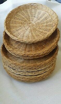 LOT VINTAGE 14 Bamboo Wicker Rattan Paper Plate Holders Picnics ... LOT VINTAGE 14 Bamboo Wicker Rattan Paper Plate Holders Picnics & Excellent Wicker Bamboo Paper Plate Holders Contemporary - Best ...