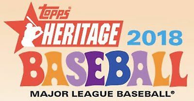2018 Topps Heritage Chrome Refactor /569 Singles U Pick Complete Your Set