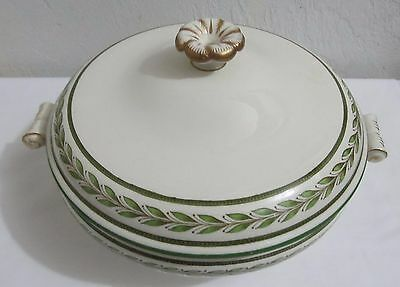 Wedgwood Ceres Etruria England 1960's Covered Dish green Trim/Gilded