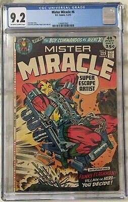 """Mister Miracle #6 (1972)   CGC 9.2  off-white to white pages  JACK """"KING"""" KIRBY"""