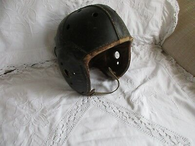 Alter RAWLINGS American Football Helm A12 U.S. Leder um 1930