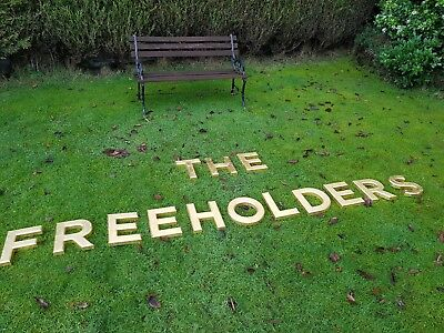 """THE FREEHOLDERS 9 3/4"""" letters resin pub shop sign wall art home breweriana"""