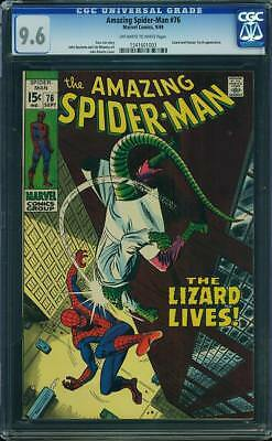 Amazing Spider-Man #76 CGC 9.6 OW/W 9/69 Lizard and Human Torch appearance